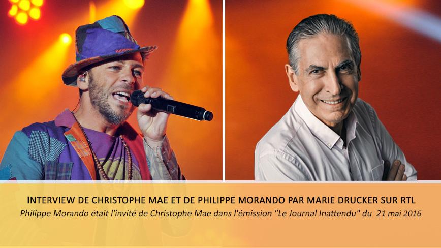 Interview de Christophe Mae et Philippe Morando sur RTL
